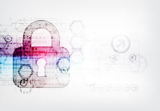 Protection concept of digital and technological. Stock Images
