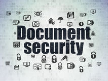 Protection concept: Document Security on Digital Paper background Stock Photo