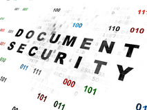 Protection concept: Document Security on Digital Royalty Free Stock Photos