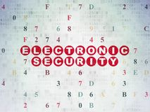 Protection concept: Electronic Security on Digital Data Paper background Stock Photo