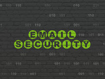 Protection concept: Email Security on wall Royalty Free Stock Photography