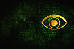 Protection concept: Eye on digital background Stock Photography