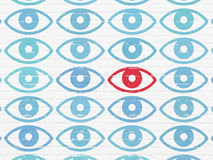 Protection concept: eye icon on wall background Stock Photography