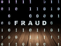 Protection concept: Fraud in grunge dark room Royalty Free Stock Photography