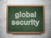 Protection concept: Global Security on chalkboard Stock Image