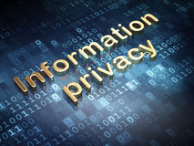 Protection concept: Golden Information Privacy on Stock Photo