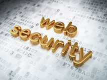 Protection concept: Golden Web Security on digital Royalty Free Stock Images