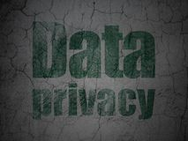 Protection concept: Data Privacy on grunge wall background Royalty Free Stock Image