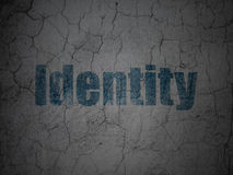 Protection concept: Identity on grunge wall Stock Images