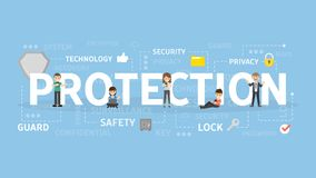 Protection concept illustration. Idea of safety, guard and security Stock Images