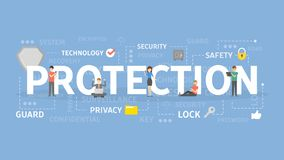 Protection concept illustration. Idea of safety, guard and security Royalty Free Stock Photography