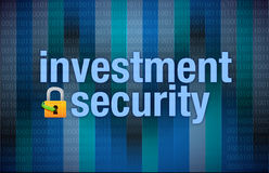 Protection concept investment security binary. Illustration design Stock Photography