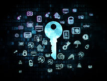 Protection concept: Key on Digital background Stock Photography