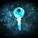 Protection concept: Key on digital background Stock Image