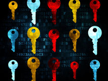 Protection concept: Key icons on Digital Royalty Free Stock Photography