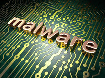 Protection concept: Malware on circuit board Stock Photo