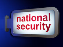 Protection concept: National Security on billboard Stock Photo