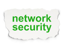 Protection concept: Network Security on Paper Royalty Free Stock Image