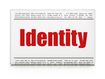 Protection concept: newspaper headline Identity Royalty Free Stock Photos