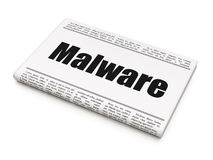 Protection concept: newspaper headline Malware Royalty Free Stock Images