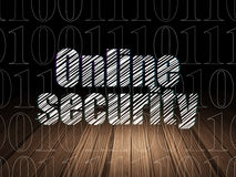Protection concept: Online Security in grunge dark Royalty Free Stock Image