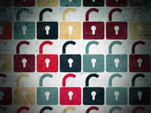 Protection concept: Opened Padlock icons on Royalty Free Stock Photos