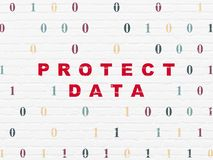 Protection concept: Protect Data on wall background Royalty Free Stock Photography