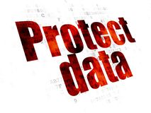 Protection concept: Protect Data on Digital background Stock Photo