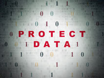 Protection concept: Protect Data on Digital Data Paper background Royalty Free Stock Photos