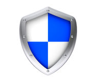 Protection concept. Protective shield. On a white background Stock Photo