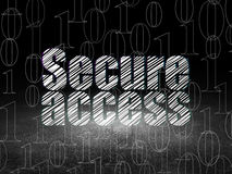 Protection concept: Secure Access in grunge dark Royalty Free Stock Image