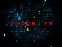 Protection concept: Security on Digital background Stock Photography