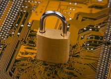 Protection concept : security lock Royalty Free Stock Photos