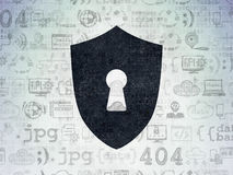 Protection concept: Shield With Keyhole on digital Stock Photography