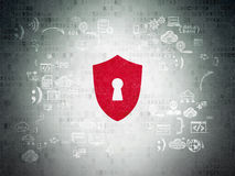 Protection concept: Shield With Keyhole on digital Stock Image