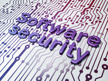 Protection concept: Software Security on Circuit Royalty Free Stock Images