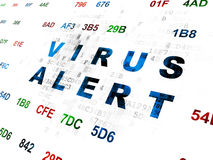 Protection concept: Virus Alert on Digital background Royalty Free Stock Photography