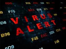 Protection concept: Virus Alert on Digital background Stock Photos