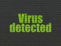 Protection concept: Virus Detected on wall background Stock Photos