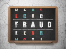 Protection concept: word Fraud in solving Stock Photography