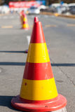 Protection cones of a site of the road Stock Image
