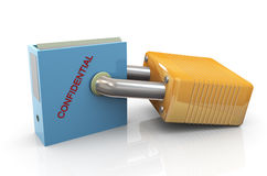 Protection of confidential files Royalty Free Stock Photography