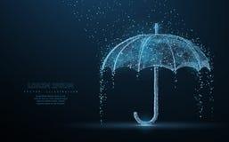 Protection contre la pluie de parapluie de vecteur illustration de vecteur