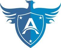 Protection courante d'oiseau d'aigle de logo photos libres de droits