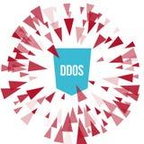 Protection d'attaque de DDoS de pirate informatique Photographie stock libre de droits