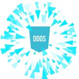 Protection d'attaque de DDoS de pirate informatique Photographie stock