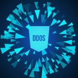 Protection d'attaque de DDoS de pirate informatique Photo libre de droits