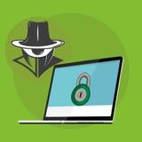 Protection d'information Photographie stock libre de droits
