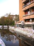 Protection d'inondation Photos libres de droits