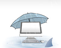 Protection d'ordinateur Photographie stock